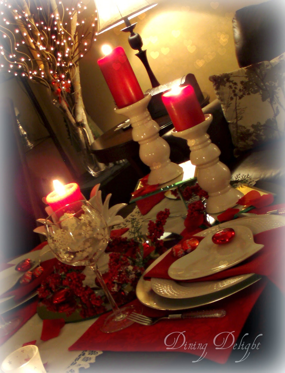Romantic Dinner For Two Recipes: Dining Delight: Valentine Apres Ski Table For Two
