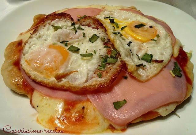 Pizza 7 Minutos De Lomito Y Huevo Frito, Espectacular!!!!!!!!