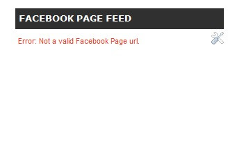 How to fix the error: not a valid facebook page url?