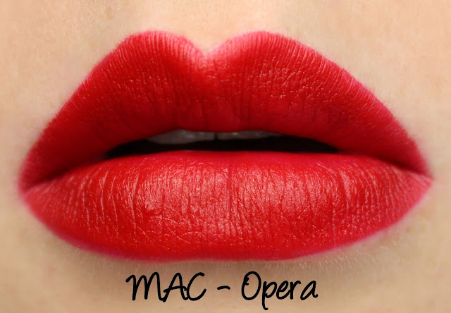 MAC Opera Lipstick Swatches & Review