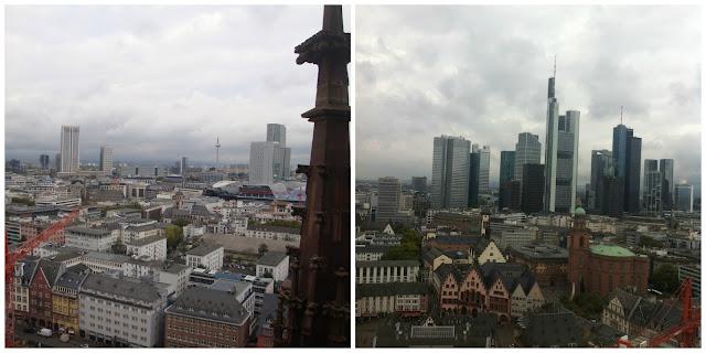 Frankfurt vista da torre da catedral
