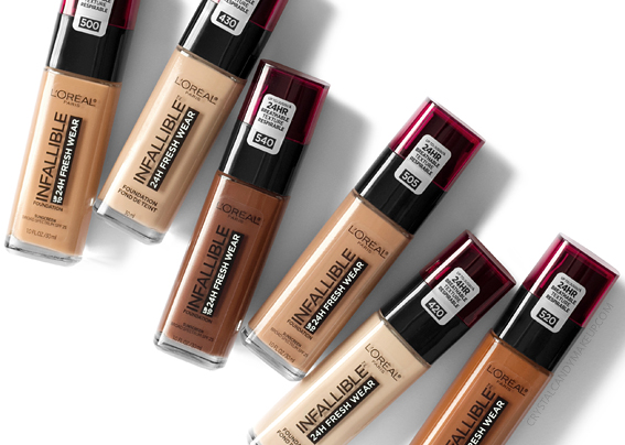 L'Oreal Paris Infallible 24H Fresh Wear Foundation Review MAC Equivalents