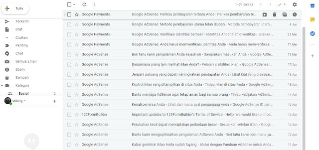 cara menghapus sampah Gmail