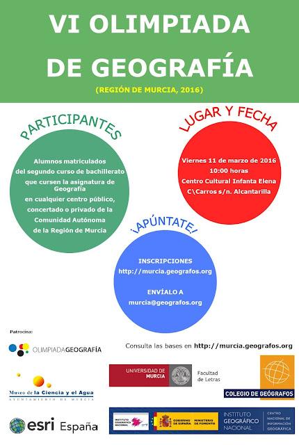 VI Olimpiada regional de Geografía.