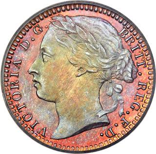 British Coins One Third Farthing 1876 Queen Victoria