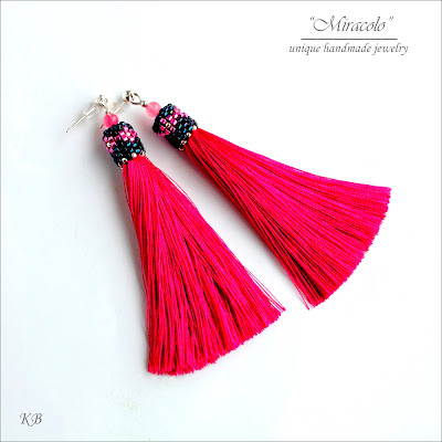 kolczyki zchwostem, tassel earrings