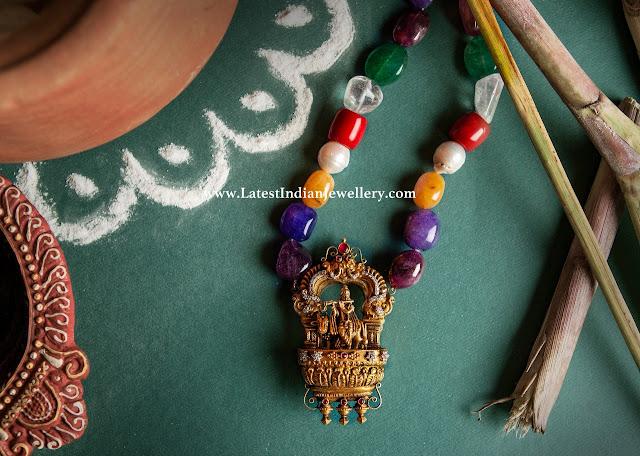 Navrathan Beads Krishna Pendant