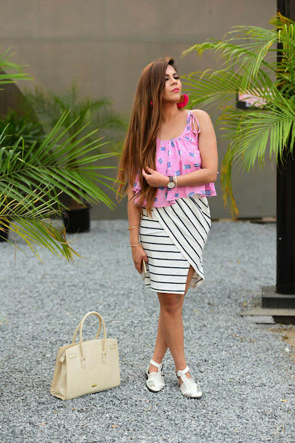 Street Chic Outfit, street style india, delhi blogger, delhi fashion blogger, fashion, strip skirt, koovs, popcorn print top, unstructured skirt, cute print tee, tassel earrings, pom pom earrings, indian blogger, beauty , fashion,beauty and fashion,beauty blog, fashion blog , indian beauty blog,indian fashion blog, beauty and fashion blog, indian beauty and fashion blog, indian bloggers, indian beauty bloggers, indian fashion bloggers,indian bloggers online, top 10 indian bloggers, top indian bloggers,top 10 fashion bloggers, indian bloggers on blogspot,home remedies, how to