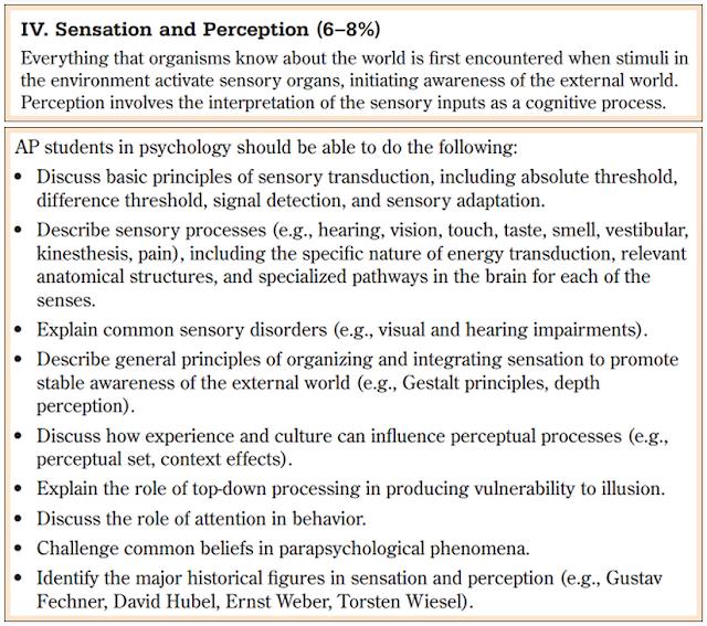 adaptation and sensory perception essay