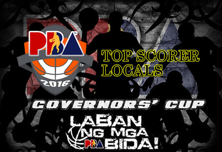 List of Leading Scorers: LOCALS 2016 PBA Governors' Cup