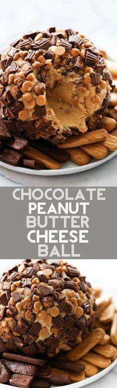Chocolate Peanut Butter Cheese Ball