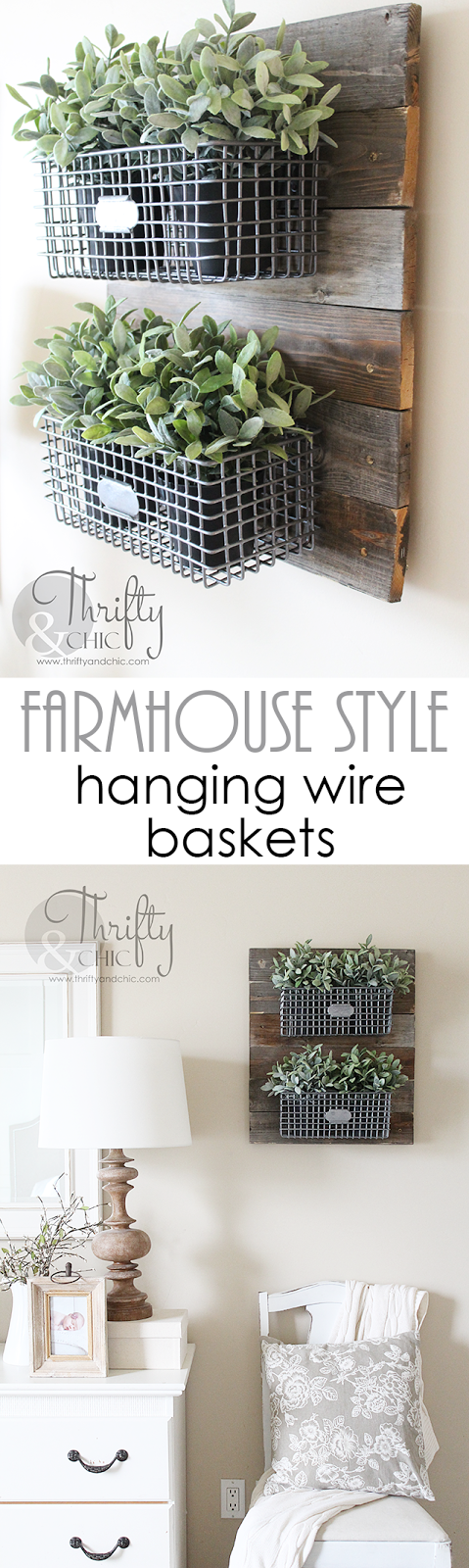 Diy Farmhouse Style Hanging Wire Baskets On Reclaimed Wood Great Way To Infuse Your House