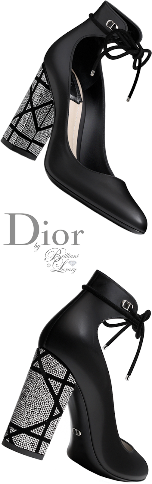 Brilliant Luxury ♦ Dior black smooth calfskin pump