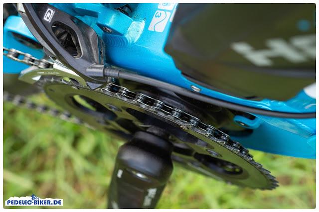 Durch den Yamaha PW-SE findet sich am Haibike SDURO FullLife ein zweites Kettenblatt.