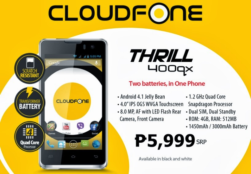 CloudFone Thrill 400qx