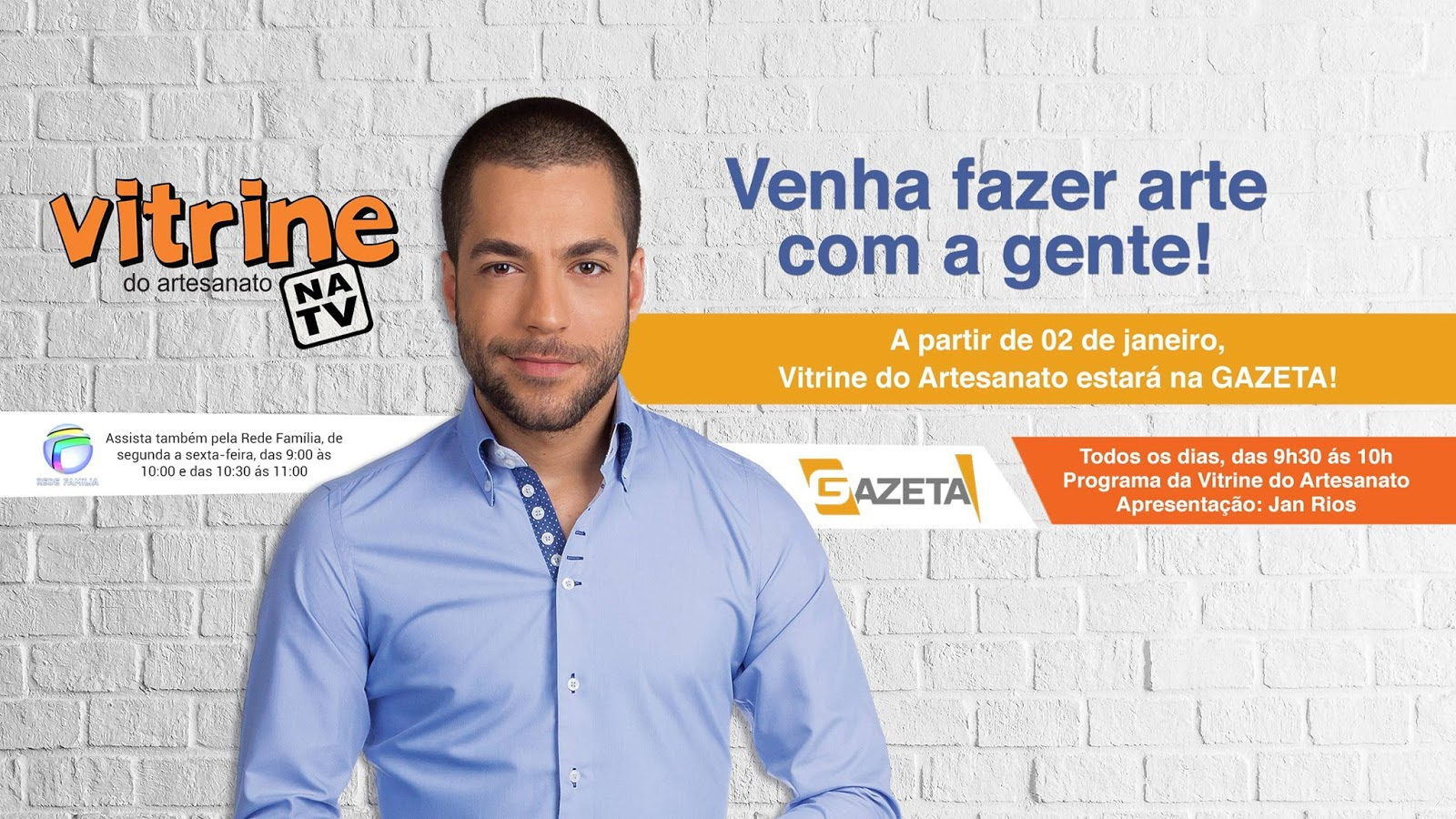 Artesanato Na Tv Rede Vida ~ Vitrine do Artesanato na TV na TV Gazeta Vitrine do Artesanato