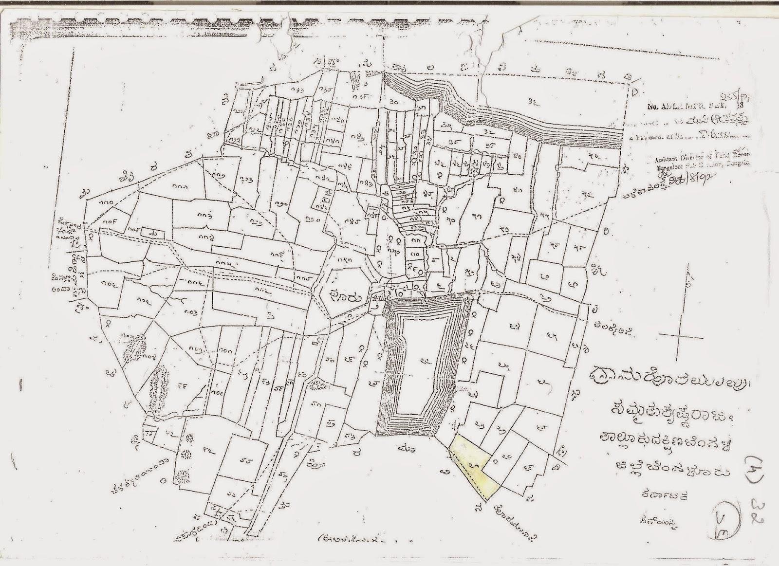 Village map with survey numbers karnataka