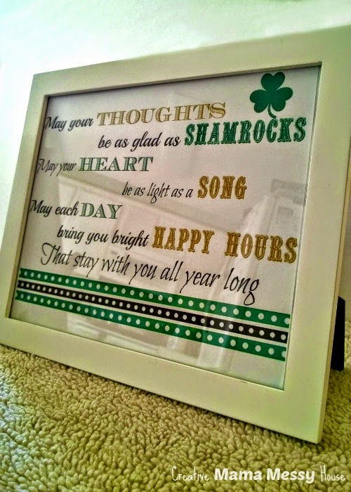 May your Thoughts be as Glad as Shamrocks... an Irish Blessing for St. Patrick's Day