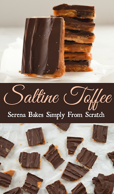 Saltine Toffee a Christmas time must make candy! serenabakessimplyfromscratch.com
