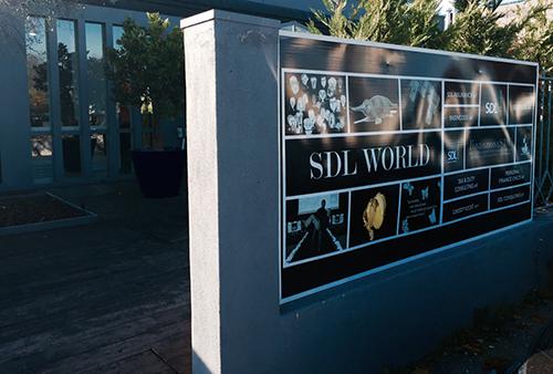 L'ingresso della sede di Brescia di SDL Centrostudi