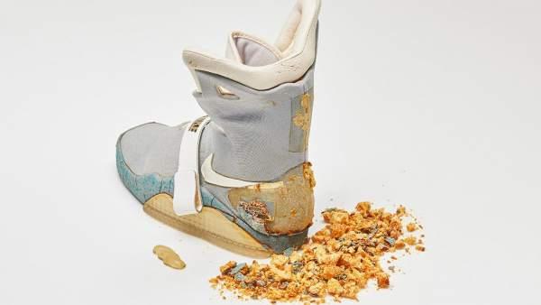 La zapatilla izquierda de Marty McFly en 'Regreso al Futuro II'