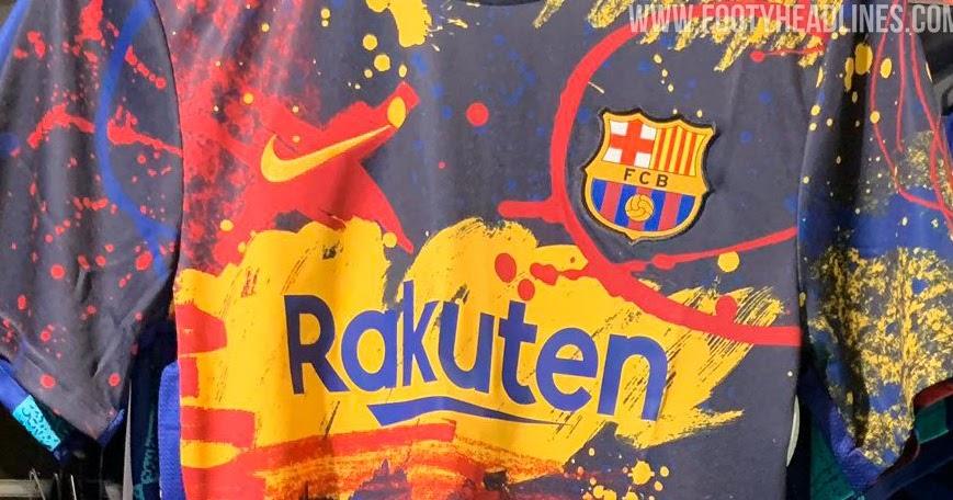 Crazy Nike Fc Barcelona 2020 Pre Match Jersey Leaked New