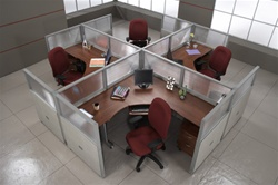 4 Person Cluster Desk - OFM Rize Collection