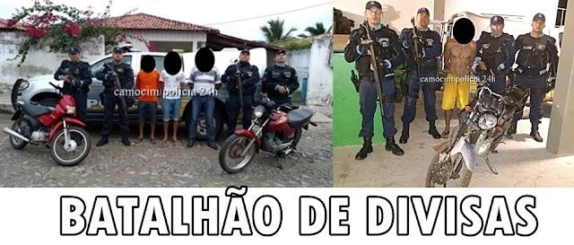 Batalhão de Divisas recupera motos roubadas em Chaval e Granja
