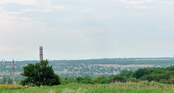 Костянтинівка. Приватний сектор житлового району Український хутір