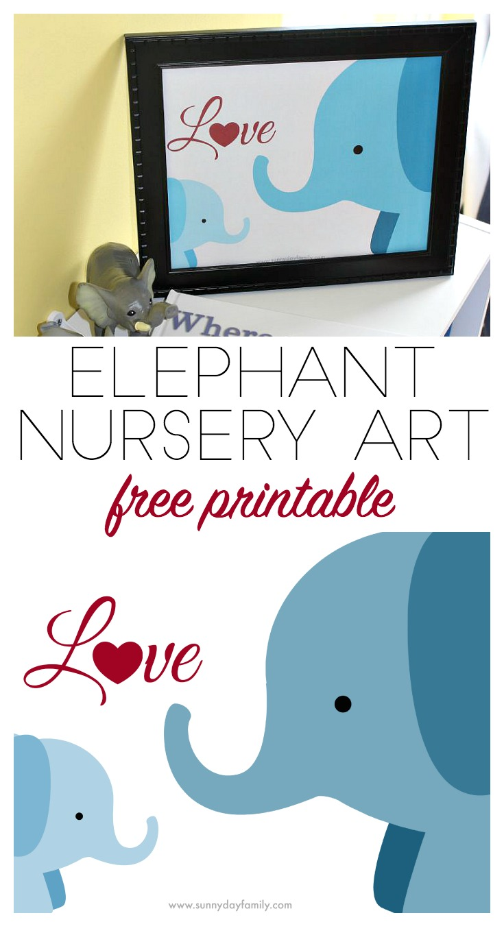 This free printable is perfect elephant nursery decor - celebrating the love between mom and baby. Such a cute and simple piece of nursery art!