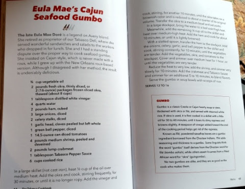 the Tabasco cookbook eula Rae's Cajun seafood gumbo recipe