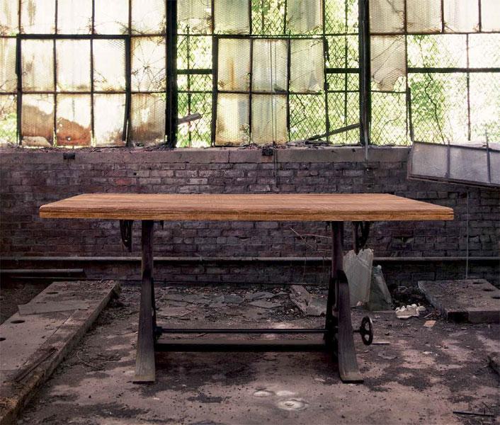 Muebles de forja mesas rusticas forja serie albany for Mesa forja elevable