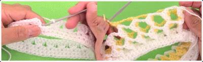 Tığ işi Bebek Bere Modeli 1