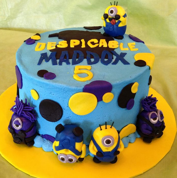 despicable me birthday cake 2016
