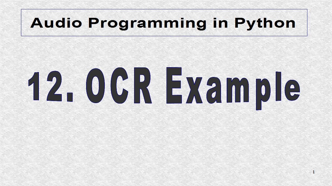 Audio Programming In Python: April 2014