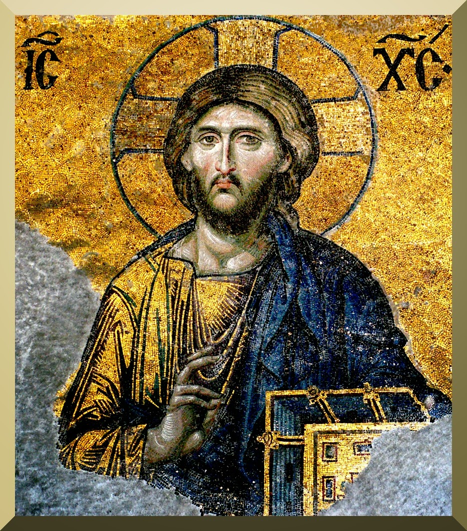"""Jesus Christ Pantocrator"" detail of Mosaic from Hagia Sophia"