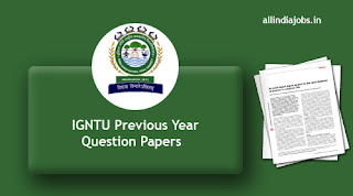 IGNTU Previous Year Question Papers