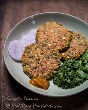 Quinoa and Chickpea patties with greens : easy to assemble working lunch