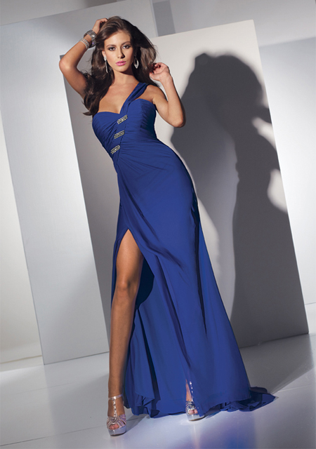 vestido elegante azul
