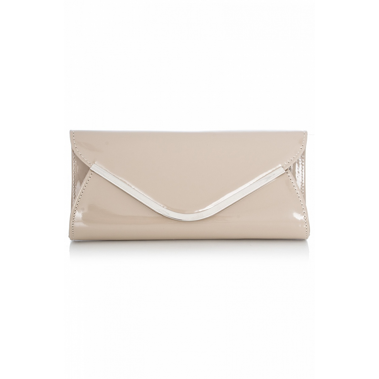 QUIZ Nude Clutch Bag