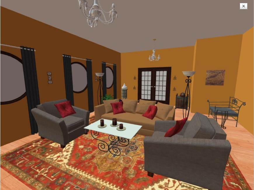 Interior design and home decorations: Turkish living room