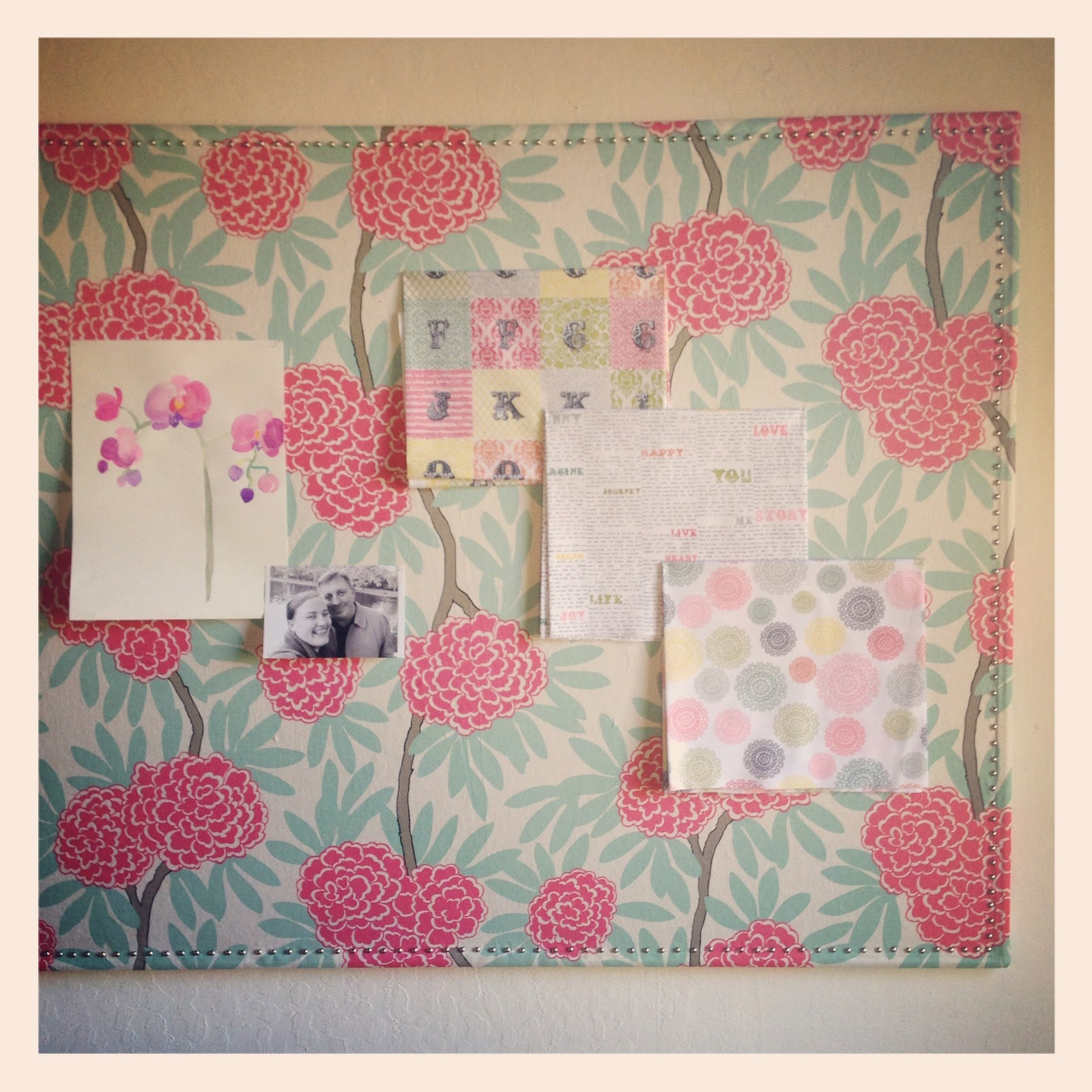 Oh. THAT Annelie...: DIY Project: Fabric Wrapped Pin Board ...