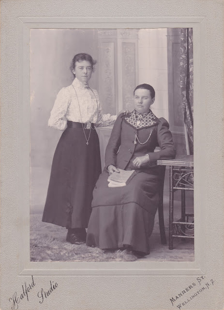 Johanna BARRETT and her adoptive mother Juliana KELLY