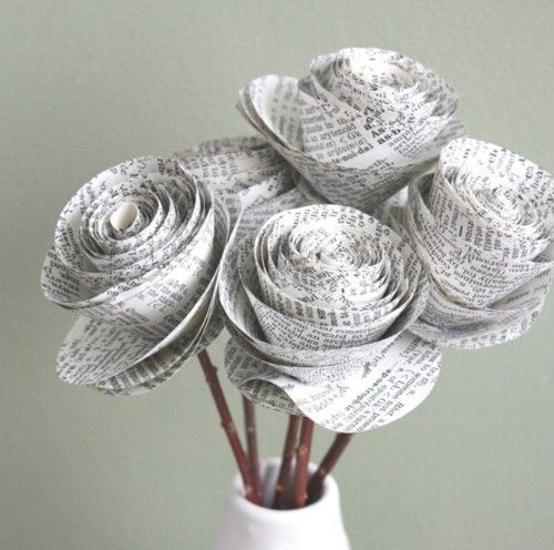 craft ideas of newspaper