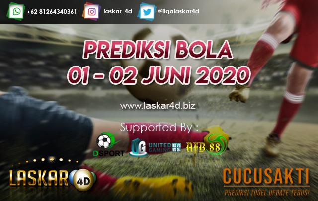 PREDIKSI BOLA JITU TANGGAL 01 – 02 JUNI 2020