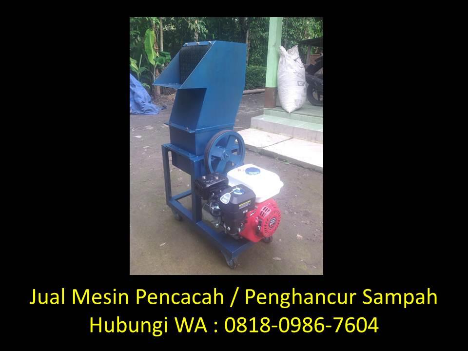 mesin pencacah sampah anorganik di bandung