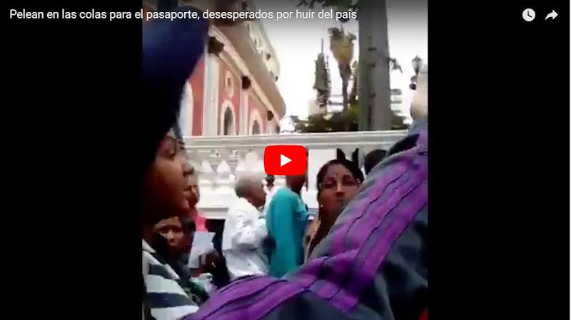 Pelean en las colas para el pasaporte, desesperados por huir del país