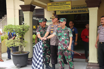 Kombes Pol Dr Dadang Hartanto SH SIK MSi Lepas Patroli Gabungan TNI-POLRI