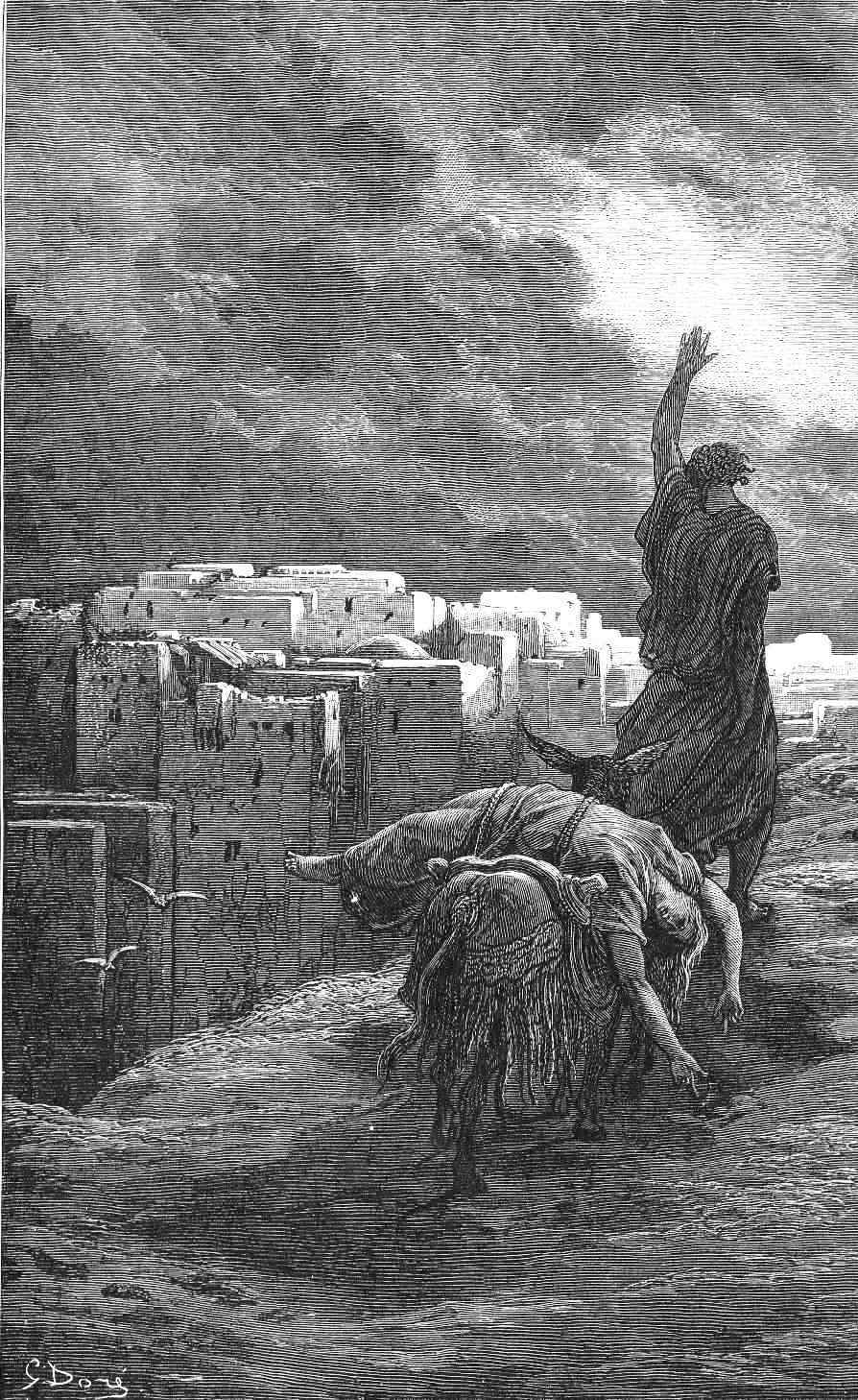 Levite calling for vengeance for the gang-rape murder of his concubine