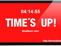 Membuat Komputer Shutdown dengan Timer